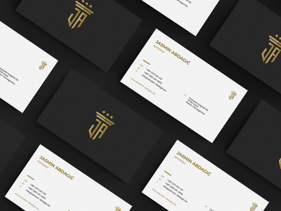 Business cards for a lawyer illustration typography design creative logo minimalist color palette modern brand identity branding business card law attorney lawyer