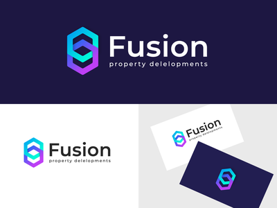 Fusion company logo company brand logo company branding company logo branding design brandidentity designlogo logodesign logo design logotype branding logo clean vector typography design
