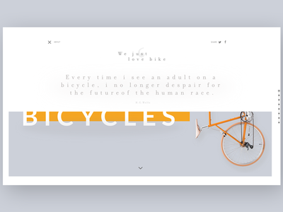 Evolution of the bicycle ~ Menu open