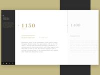 Timeline Typography