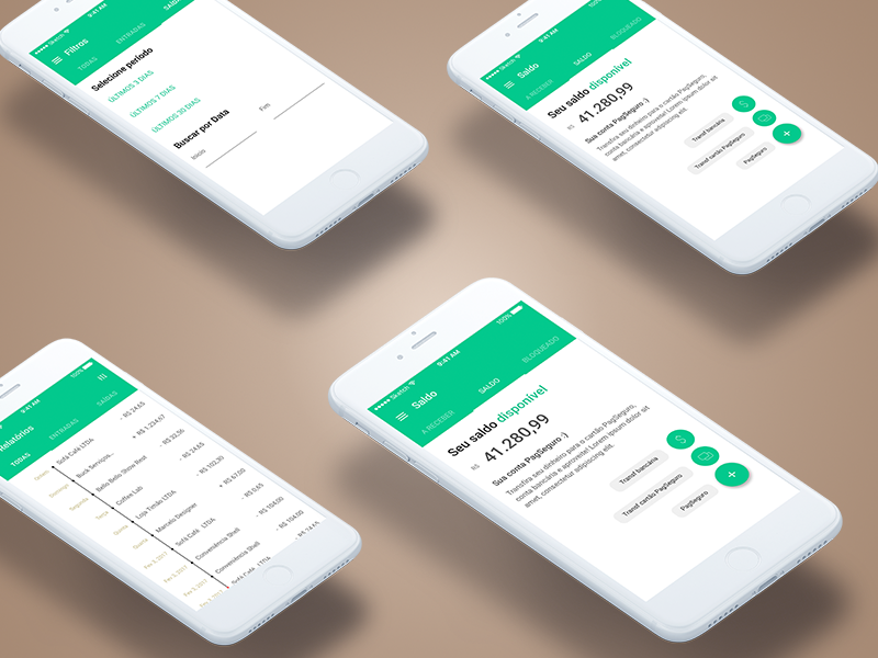 Mobile Finance ios ux design interface ui money banking mob clean finance app mobile