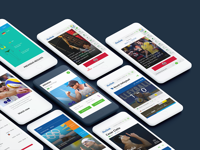 Olympic Games 2016 olympic games digital interface user ux ui rio2016 games olympic mobilefirst responsive mobile