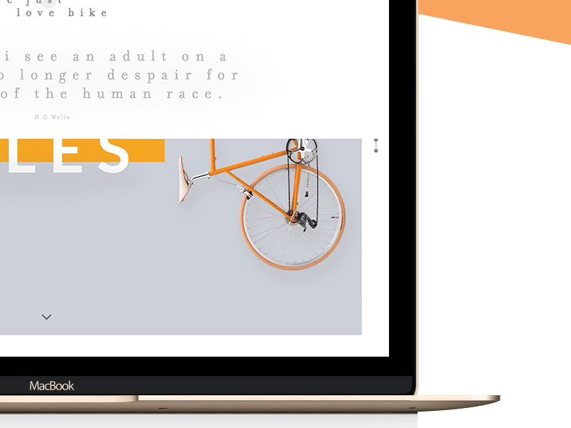 Evolution of the Bicycle history sport bicycle onepage ux ui website colors clean design web
