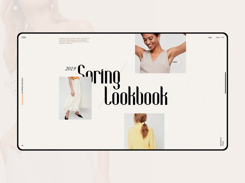 FNS - Lookbook page shopping layout creative ecommerce fashion clean ux ui typography scroll