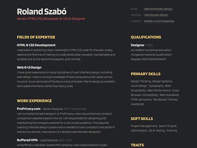 CV/Resumé 2020 minimal flat clean ui web design typography portfolio personal resume cv