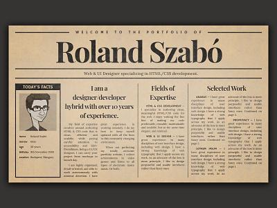 Old Newspaper Inspired Portfolio Idea [Discontinued] - Homepage web design ui design antique old portfolio newspaper