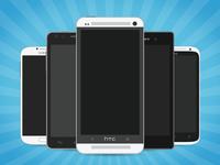 Flat Vector Mobile Phones
