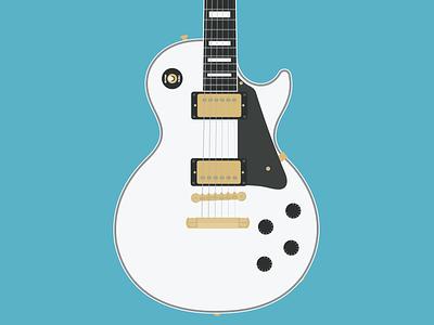Flat Vector Electric Guitar guitar lespaul electricguitar illustration vector flat