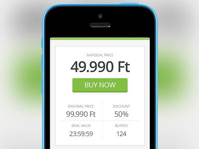 Napideal Buy Widget buy widget iphone app web design