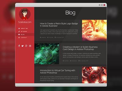 New Website Blog Page website web design blog article portfolio red dark