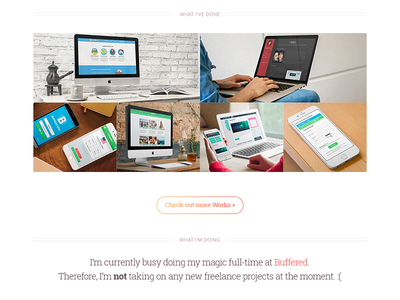 My Portfolio | Day 2 clean designer portfolio white