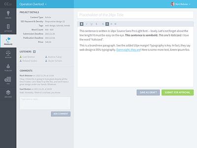 Content Creation Marketplace App Design dashboard clean writing blog marketplace design application app