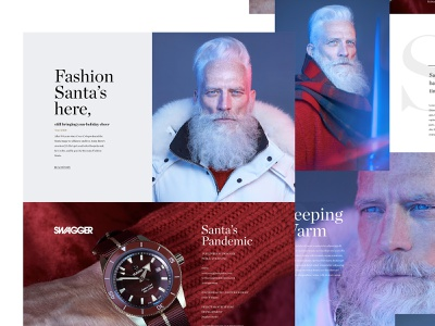 Fashion Santa for SWAGGER Magazine santa clause kris kringle flat website design ui magazine landing paul mason fashion santa santa swagger