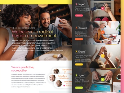 About Us / Product Page feature interface ux ui about us product page theme onepage landing product card