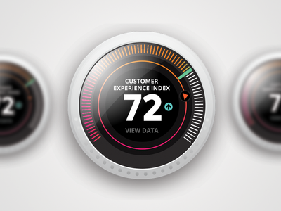Experimental Dashboard Dials homepage stats interface ux ui nest dial dashboard
