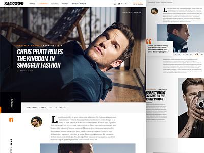 Swagger Magazine Article Page wordpress website ui portfolio masonry magazine landing flat classy blog luxury article page