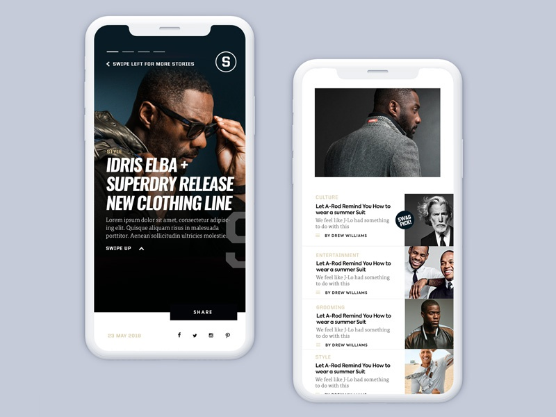 Swagger Magazine Mobile ux ui minimal magazine iphone content clean classy blog mobile article app