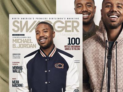 SWAGGER Magazine Michael B. Jordan Cover editorial design layout blog website typography homepage fashion luxury men lifestyle design elegant magazine