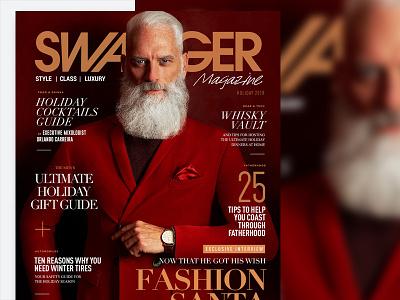 Fashion Santa for SWAGGER Magazine 2018 santa claus magazine cover art cover design holiday fashion editorial portait portrait photography