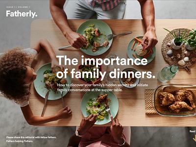 Fatherly Magazine flat onepage blogger fatherly father homepage website ui branding landing landingpage blog magazine