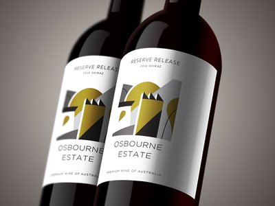 Abstract Label design geometry shapes illustration abstract branding brand labeldesign wine label