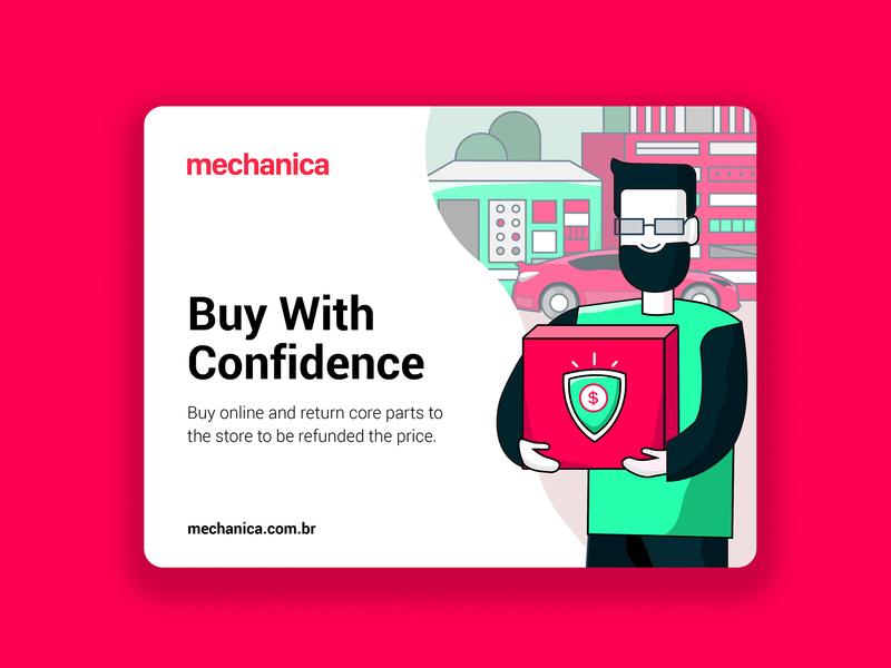 Website Illustration Concept pink shop store marketing autodealer auto parts parts webdesign website onlinestore onlineshop linear confidence illustration