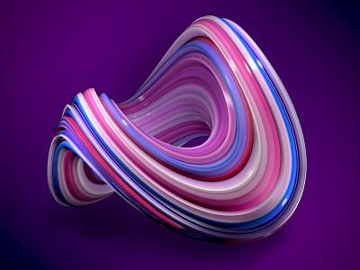 Abstract 3D element c4d vibrant lush cinema 4d branding brand pink illustration design abstract 3d art 3d