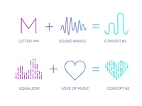 Logo Design Concepts for Music App