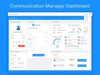 Communication Manager Dashboard Redesign