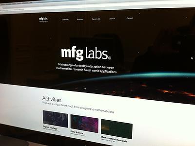 Mfg Website (teasing) ui homepage