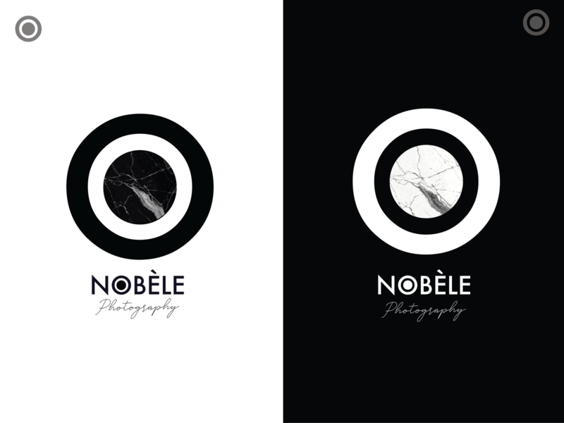 Finale - Nobèle Photography Logo & Watermark identity design photographer lens photography handwritten font circle logo shape elements graphic art digital 2d vector logo branding simple design graphic design