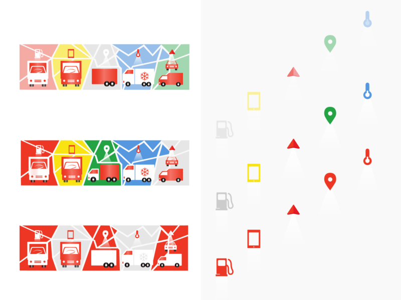 Illustrating web banner logistics logistic shape elements icon design icon set navigation icons graphic art digital 2d vector google maps simple design composition graphic design