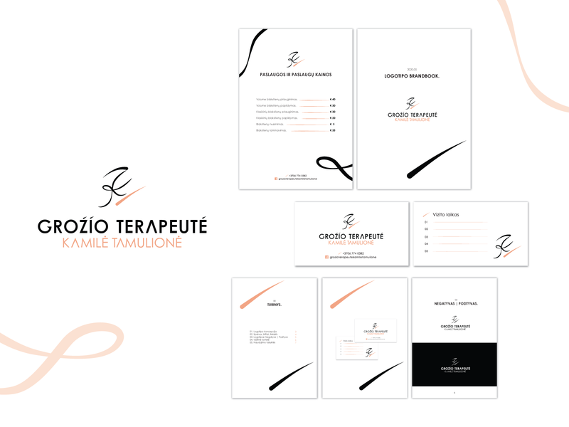 Branding design - BEAUTY handwritten logotype logo design business card brandbook beauty beauty logo ui logo typography graphic art shape elements design vector digital 2d simple design composition graphic design