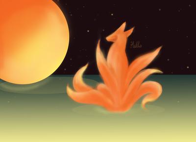 First sketch on wacom :D / Foxtail