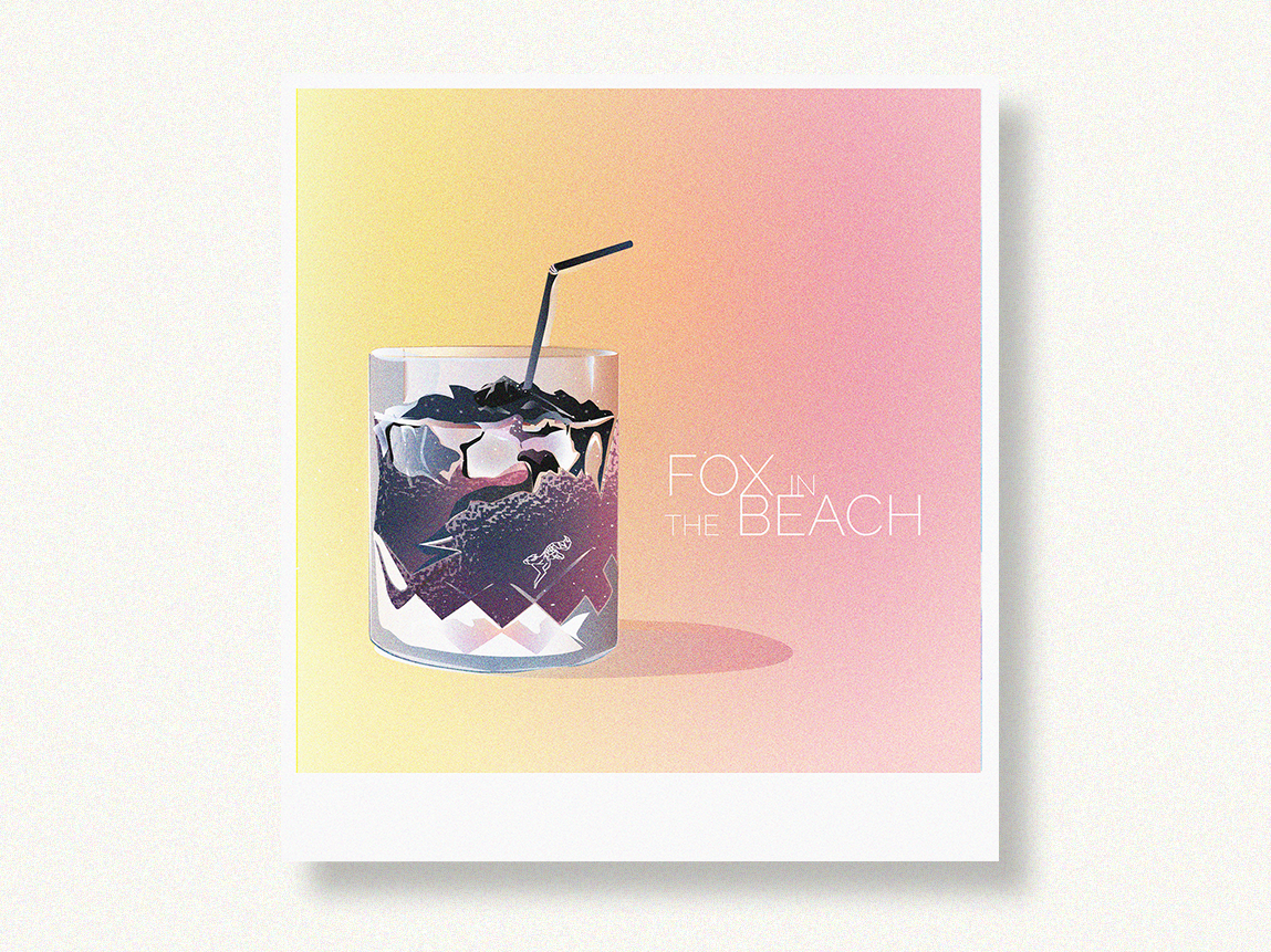 Fox in the beach / Illustration / mountains grunge textures vector artwork colorful design learning creative  design glass fox textures design artwork illustration art illustration illustrating graphic art vector digital 2d composition graphic design