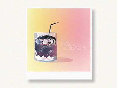 Fox in the beach / Illustration /