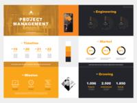 Orange keynote design / Big typeface