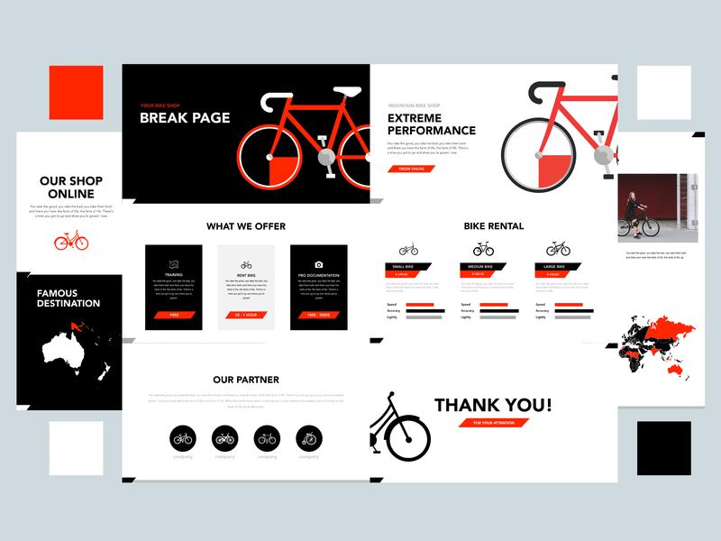 My Bicycle - Keynote design ui composition simple design design bicycle shop bicycles bicycle keynote template keynote presentation graphic design