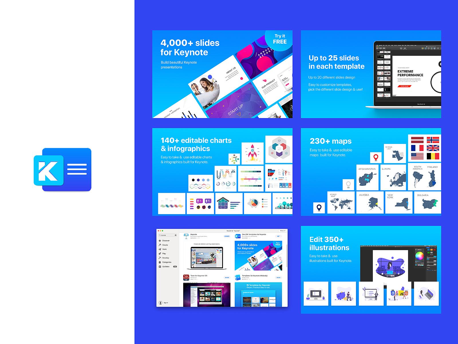 Kit for Keynote - Icon & appstore branding by Šarūnė Ši on
