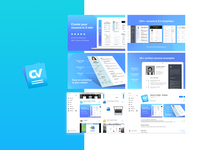 CV Template application - Brand design