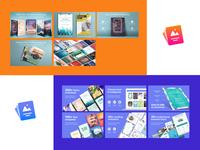 Re-brand design - Flyer template application