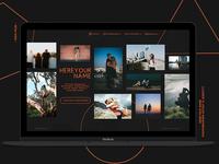 Website of photographer's portfolio
