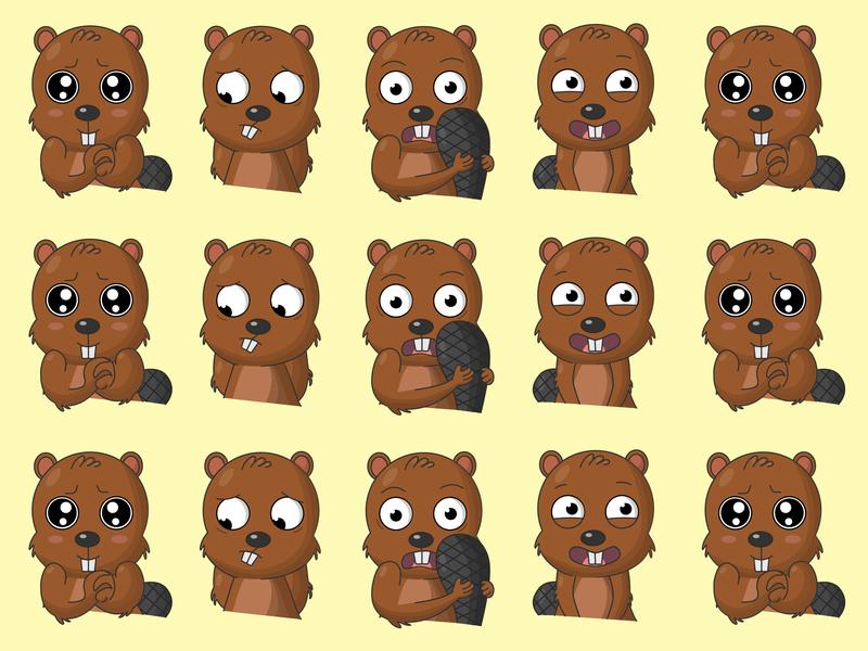 Beaver pattern pattern emotions beaver embarrassment fright emotion of love nervous laugh