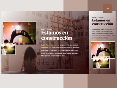 La iglesia eres tú | Under construction page webdesign adobexd global project inspiration peachers videos coming soon church underconstruction