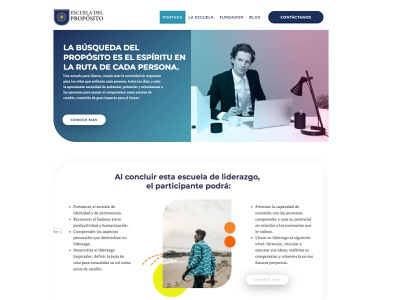 Escuela del Propósito homepage design web liderazgo escuela