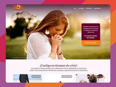 Ministerio de consejería de Iglesia del Camino. sos avivadores iglesia del camino oxygen builder wordpress live webdesign sos help me consejeria colorfull design homepage