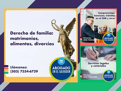 Ads campaña legal advisor tuabogadoenelsalvador.com legal services el salvador tuabogado law legales anuncios design ads