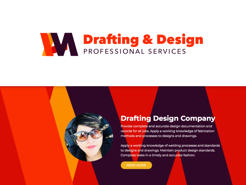 Drafting Design basic shapes red losangeles drafting branding logo