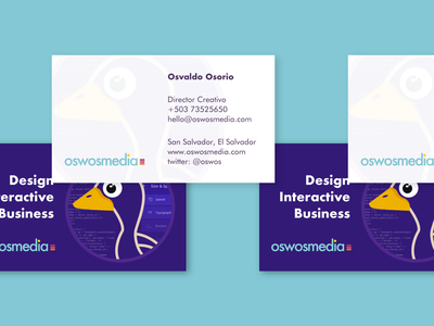 oswosmedia.com business card business interactive design oswosmedia business card