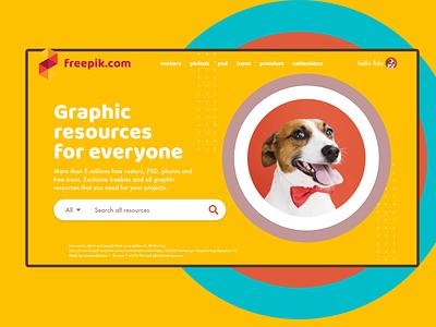 Freepik.com fido mode freebie fun webdesign home thankyou resources free dog owner petlover design generosity freepik homepage